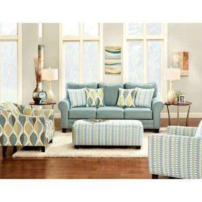 Handsome Contemporary Quality 5 Seater Sofa + Ottoman image 1