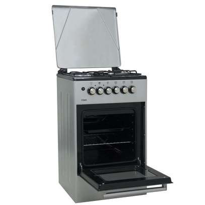 Official Store Mika MST50PU31SL,Standing Cooker, 50cm X 50cm, 3 + 1, Silver image 4