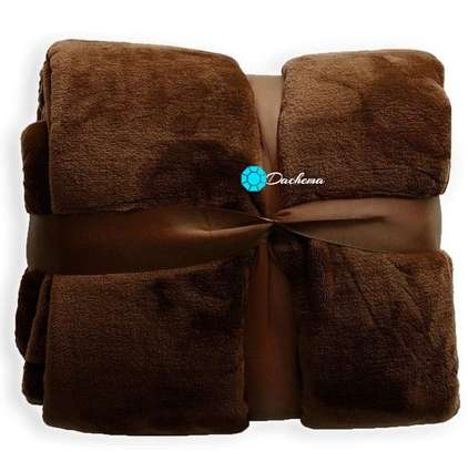 brown coral fleece blanket image 1