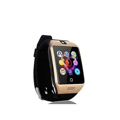 Q18 Smart Watch Phone - 0.8MP Camera – Single SIM/Memorycard- Gold. image 1
