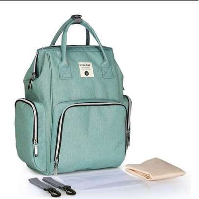 Portable Baby Diaper Bag for Travel - Light Green (cyan) image 1