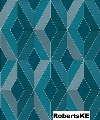 wallpaper light blue print image 1