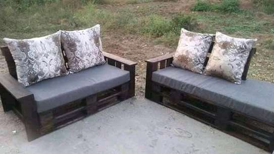 Functional Simple Quality 5 Seater Pallet Sofa image 1
