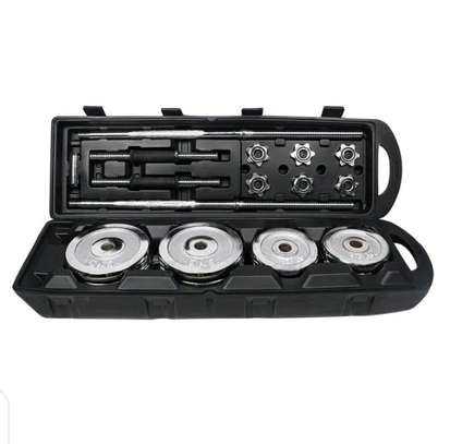 50Kgs Dumbbells Set with Case and Connector image 1