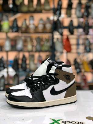 Mocha's unisex J1s sneakers image 1