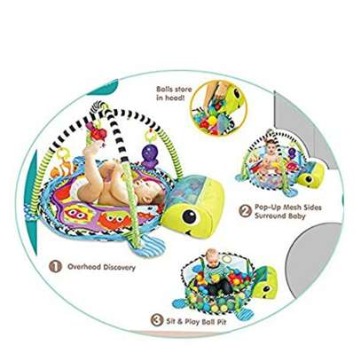 3 In 1 Baby Activity Gym, Play Mat And Ball Pit image 2