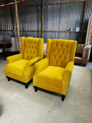 One seater tufted sofa/yellow single seater sofas for sale in Nairobi Kenya image 1