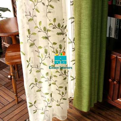 Curtains with beautiful printed sheers image 3