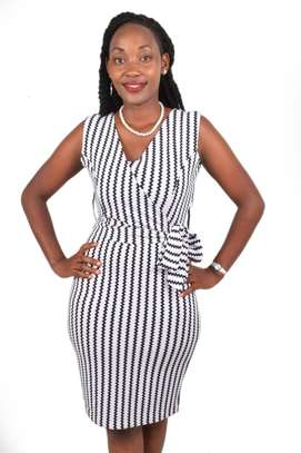 Black and White Striped Dress image 1