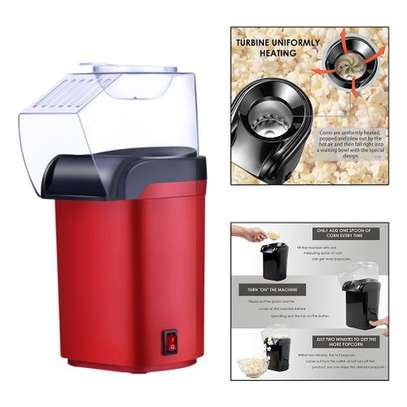 Small Hot Air Electric Popcorn Popper Maker Machine EU Easy Store Red image 1