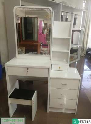 Dressing mirror tables plus stool set image 2