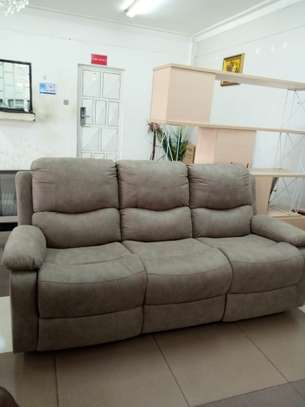 Recliner leather sofa image 1
