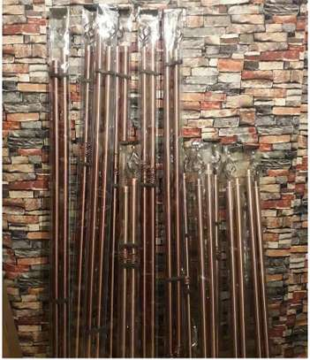 curtain rods 2m rod brown single image 2