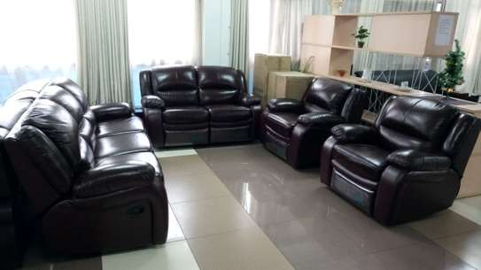 5 Seater (3+1+1) Leather Recliner sofa image 1