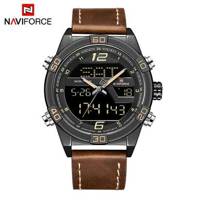 Naviforce NF9128 Top Brand Men Fashion Sport Leather  Watch image 3
