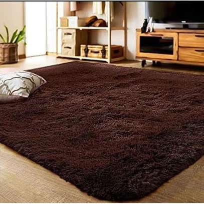 Brown Chocolate Soft Fluffy Carpet 5*8 image 1