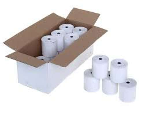 box of 80mm thermal rolls(50 pcs) image 1