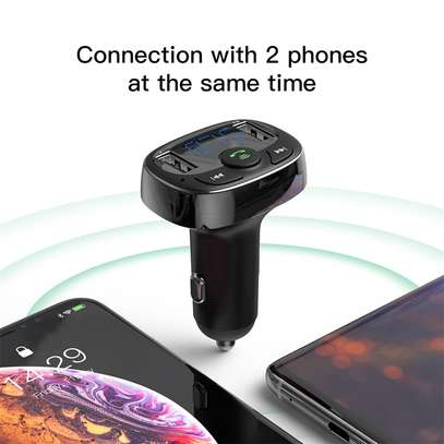 Baseus Dual USB 3.4A Car Charger MP3 Audio Player FM Transmitter Handsfree Aux Modulator Mobile Phone Charger image 2