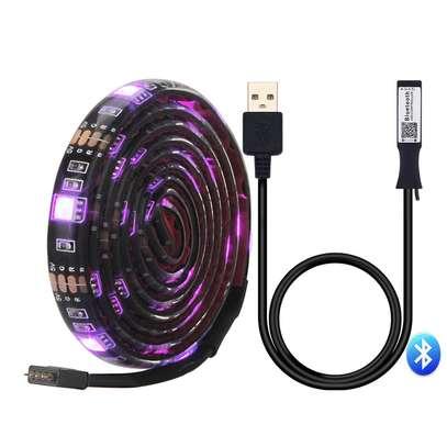 RGB LED TV Backlight USB Powered LED TV Strip Light 5050 With Bluetooth LED controller app image 1
