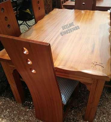 6 Seater Solid Mahogany Wood Sets image 2