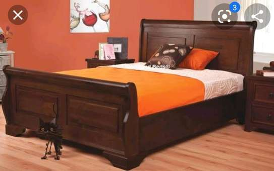 Bed 6*6 bed made by hand wood and good quality material maongany image 2