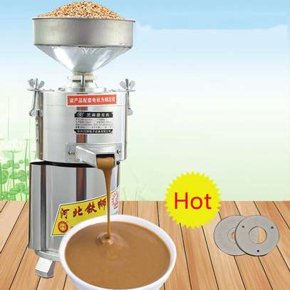 New 220V 1100W Electric Commercial Peanut Butter Sesame Grinding Machine 15kg/h image 2