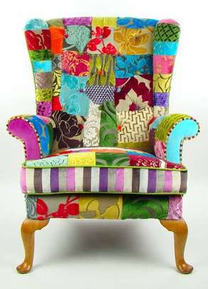 Kitenge Armchairs/Wing back chairs image 2