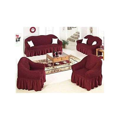 Stretchable Sofa Seat Covers seven seater- 3+2+1+1 (7 seater) image 7