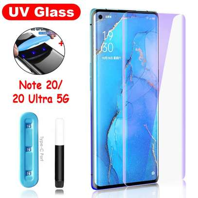 UV Full Adhesive Tempered Glass film for Samsung Galaxy Note 20/Note 20 Ultra Screen Protector image 1