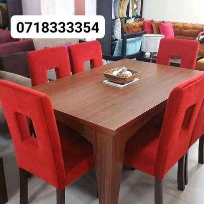 Gorgeous Stylish Modern Quality 6 Seater Dining Table image 1