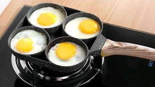 *High Quality heavy granite non~stick 4slot pancake/egg  pan image 3