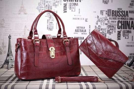 2 Piece Leather Handbag Sets. image 2