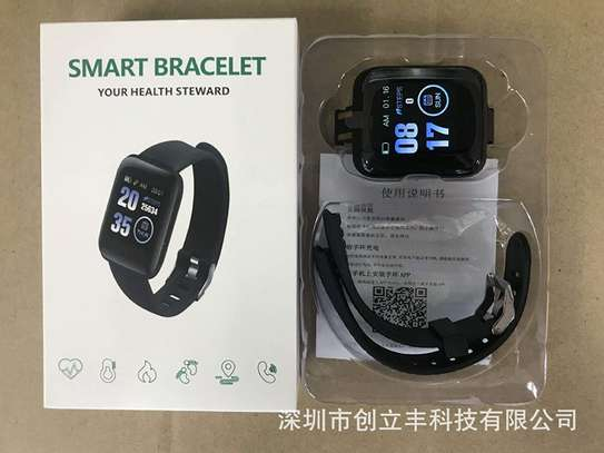 116 Plus Smart Watch Wristband Sports Fitness Blood Pressure Heart Rate Call Message Reminder Android Pedometer D13 Smart Watch image 3