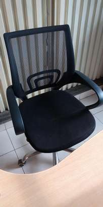 Low back adjustable office chair,black image 1