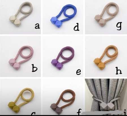Magnetic Drapery Curtain Tiebacks Holders image 1