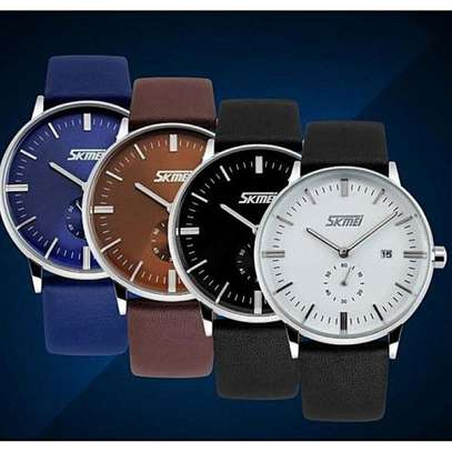 SKMEI Luxury Leather Strap Business Watch 9083 image 4