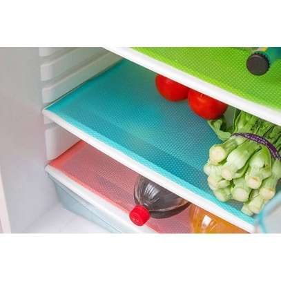 4 Piece Multifunction Refrigerator Mat Fridge Anti-fouling Anti Frost Waterproof Pad - Assorted colours - One size image 1