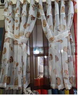 brown kitchen curtains image 1
