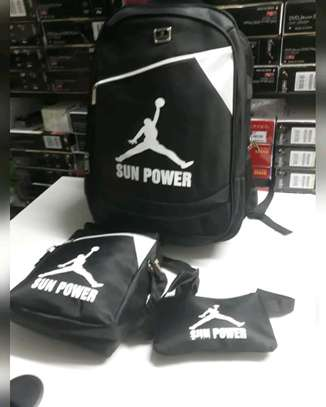 3 in 1 sun power laptop back pack image 1