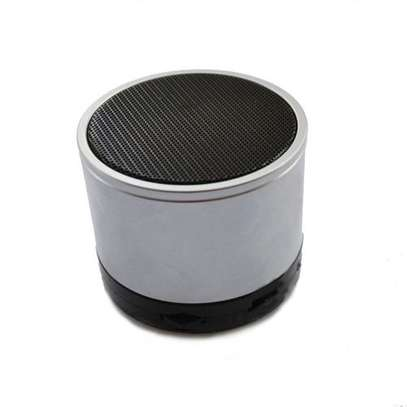Mini Bluetooth Wireless Stereo Speakers FM, Memory Card, Bluetooth, USB - Silver image 1