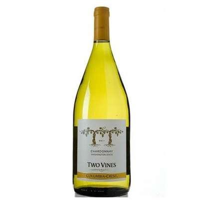 Two Vines White Wine Dry Chardonnay - 1000ml image 1