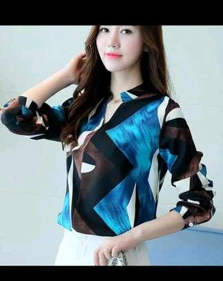 Ladies fancy chiffon blouses image 2