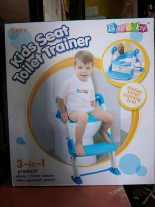 NEW strong portable step ladder potty Seat (2-7 years)- Blue image 2