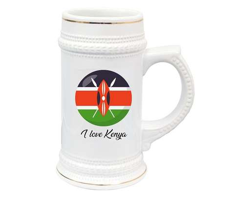 Kenya Flag Beer Mug