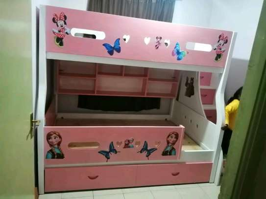 Kids Bunkbed with storage stairs image 3