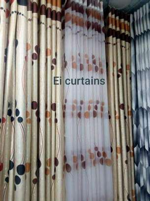 HIGH QUALITY CREAM AND BROWN THEMED CURTAINS image 4