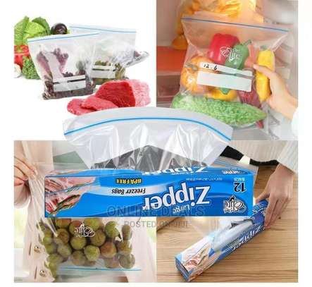 Reusable Re-Sealable Food Plastic Zipper Zip Lock Bags image 6