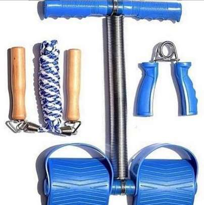 3 way exercise fit with tummy trimmer,skipping rope and hand grip image 1
