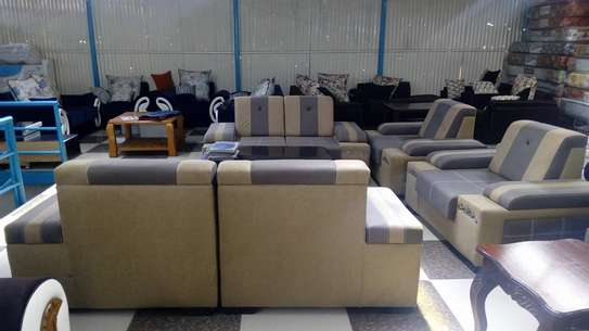 Ready made suede 7 seater sofas image 1