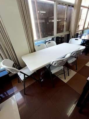 3-seater foldable dinning set image 1